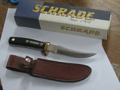 "Schrade Knives Old Timer Mountain Lion 9 3/8"" Knife W/Leather Sheath NM"
