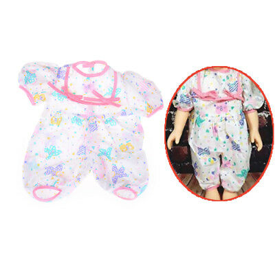 One Piece Floral Clothes Jumpsuit For 43cm Zapf Baby Born Doll Accessories SG