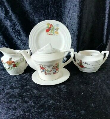 Vintage Art Deco Nursery Rhyme Child's Tea Ware Mismatch Items English China