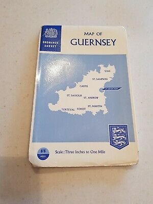 Vintage Ordnance Survey OS Map Of Guernsey 5th Series
