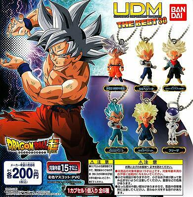 Bandai Dragon Ball Super Udm The Best 30 Gashapon Set de 6 Mascota Capsule