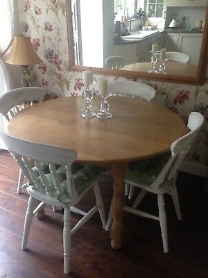 Large Round Dining/kitchen Solid Wood Table