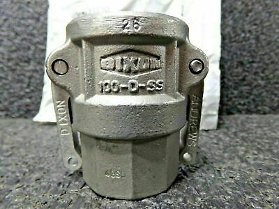 """Dixon 100-D-SS SS 316 Type D Cam and Groove Hose Fitting, 1"""" Socket (DC)"""