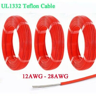 UL1332 FEP Stranded Cable Wire Cord 12/13/14/16/18/20/22/24/26/28 AWG 200°C Red