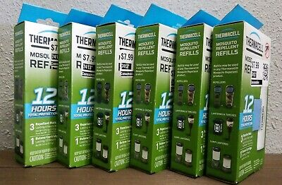 Lot of 6 ThermaCELL Mosquito Repellent REFILL 12 hour 3 mats 1 cartridge