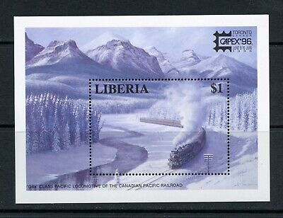 S180  Liberia 1996  trains Canadian Pacific  CAPEX   sheet   MNH