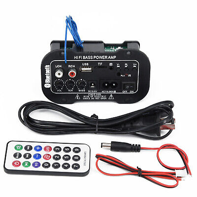Car Bluetooth HiFi-Bass Power AMP Stereo Digital Amplifier USB TF with Remote
