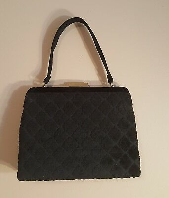 6eb02e8019f VINTAGE BLACK VELVET Purse-Private Collection - $6.99 | PicClick