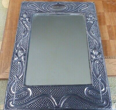 Edwardian,Art Nouveau solid silver dressing table mirror,photo frame,1906,J&RG