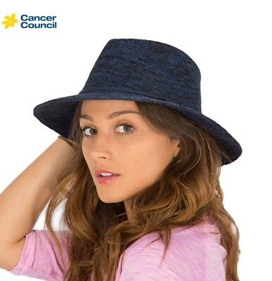 756a74f87 CANCER COUNCIL SCRUNCHIE Travel Hat- Black - £27.86 | PicClick UK