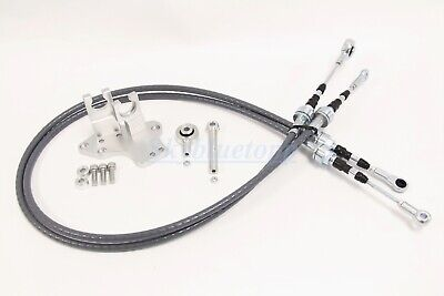 Precision Works Shifter Cable Bracket for H22 F20B Series Swap EG DC EK w/ CABLE