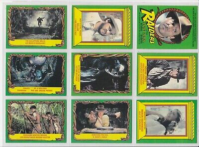 1981 O-Pee-Chee Indiana Jones Raiders Of The Lost Ark 36 Lot