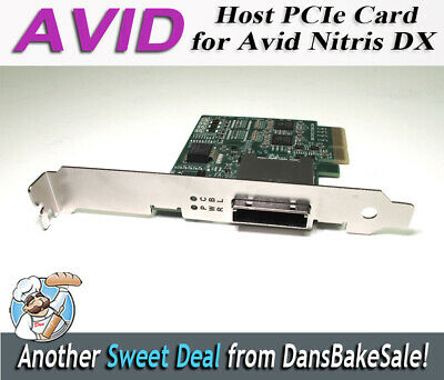 Avid Host PCIe Card for Avid Nitris DX and Mojo Dx  7030-20084-01 A - Tested!