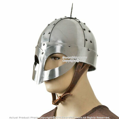 Gjermundbu Viking Helmet with Leather Liner LARP Medieval Renaissance Costume