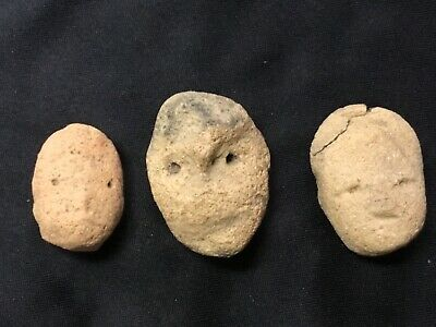 Pre Columbian Head Fragments