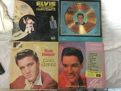 Elvis Presley Lot Of 4 LP: Something For Everybody/ King Creole/ Golden Records