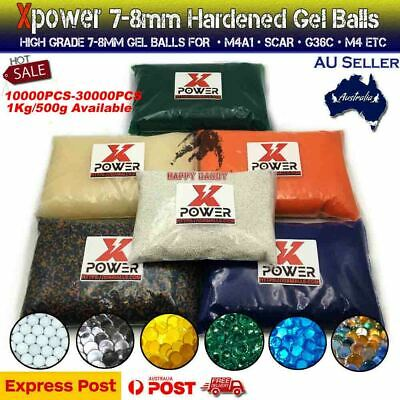 1KG 7-8mm XPOWER HARDENED COM Gel Balls Gel Blaster Toy Ammo Water Beads 7MM-8MM