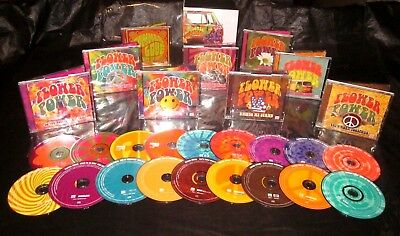 Flower Power 18 CD Box Super Set TIME LIFE Sounds of the 60s 70s WOODSTOCK Era