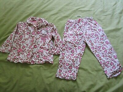 Hello Kitty for Target Girl's Size 2 Flanilette Pyjamas