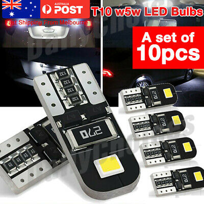 10PCS CANBUS T10 Wedge 2SMD Parker Number LED Bulbs W5W 194 168 131 Mel