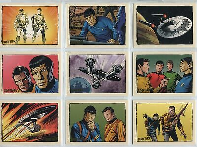Star Trek Original TOS Quotable - Comic Books - Complete 9 Card Chase SET - NM