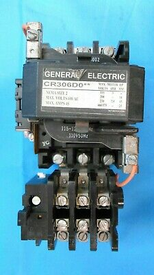 Ge Cr306D002 Starter  Sz 2 3P 3 Phase 115V Open Mag Reconditioned