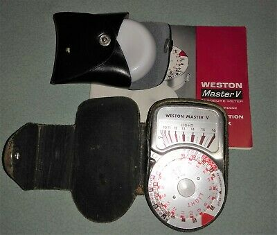 Weston Master V Universal Exposure Meter Model - S461.5 Case and dome