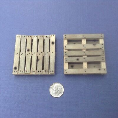 "1:24 Pallet Wide Board 2-1/4""x2"" Dollhouse Miniature Train Room Box"