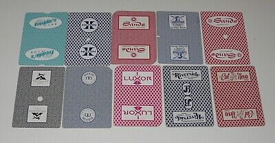 Lot 10 Single CASINO ACE OF SPADES Vintage Swap Playing Cards