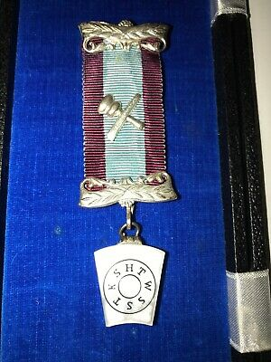 Vintage Masonic Medal With Ribbon
