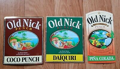 3 Étiquettes d'alcool Old Nyck