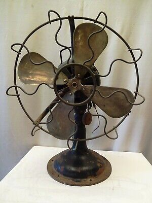 Antique Marelli Electric Fan Table Verno Made In Italy The English Electric Co*2