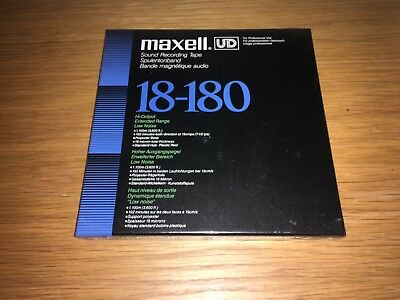 """Maxell Reel to Reel 18-180 1/4"""" Audio Tape 7"""" Spool 3600ft 1100m StudioClearance"""