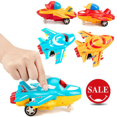 NEW Music Toy Plane Plastic Friction Powered Car Safety Inertia Aeroplane 4Color
