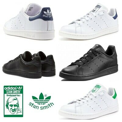Adidas Originals Stan Smith Mens Trainers Casual Shoes Sneakers White Black