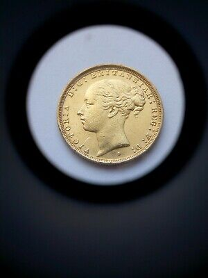 1887 Gold Full Sovereign. Sydney Mint. Low Mintage