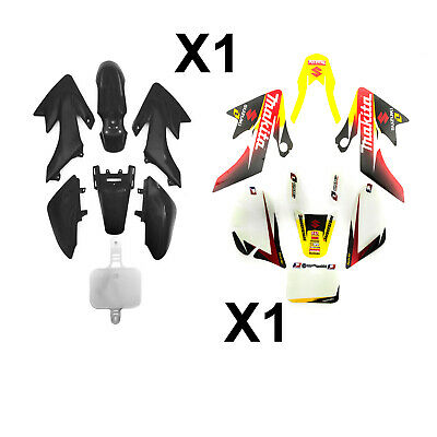 CRF50 Pit Dirt Bike Black Plastic Set Makita Graphic Sticker 50cc 110cc 125cc