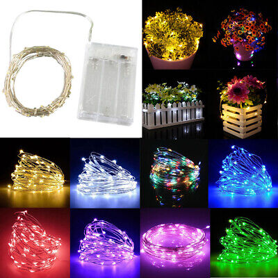 50 100 LED Battery Micro Rice Wire Copper Fairy String Lights Party Xmas Party