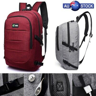 Anti -theft Waterproof Notebook Laptop Backpack With USB Interface Rucksack