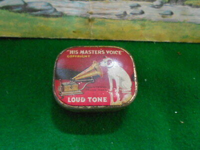 His Masters Voice Loud Tone Gramophone Needles In Original Tin With Paper Inner