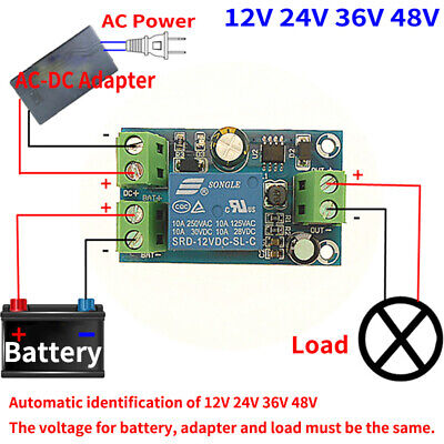 DC 12V 10A two-way Power Automatic Transfer Switch Relay