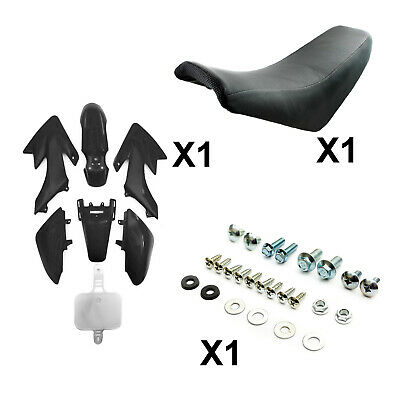 Pit Dirt Bike Black Plastic + Foam Seat + Bolts CRF50 50cc 110cc 125cc Pitbike