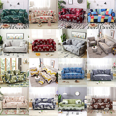 1 2 3 4 Seater Stretch Sofa Cover Couch Cover Protector Elastic Slipcover Cover