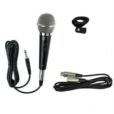 Professional High-End Metal DJ Handheld Wired Microphone Mic w (2) XLR Cables