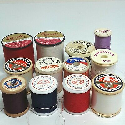 Cotton Polyester sewing thread Spools Coats Excell Dewhurst Sylko Vintage Bulk