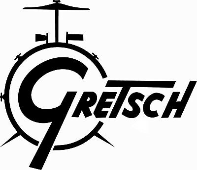 Gretsch Drums Drum Logo Decal/Sticker Choice Of Colours