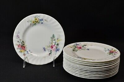 Royal Doulton Arcadia Brown Backstamp Set of 12 Bread & Butter Plates