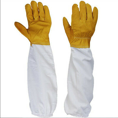 50cm Protective Beekeeping Bee Keeping Vented Long Sleeves Gloves Goatskin GNCA