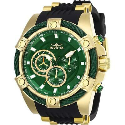 Invicta Bolt 25532 Men's Green Dial Chronograph Black Silicone Band Watch