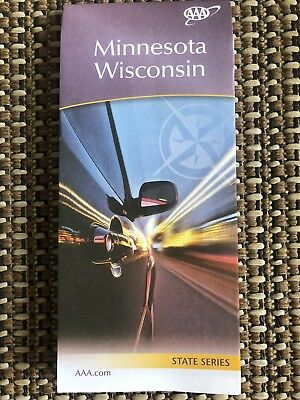 AAA MINNESOTA & WISCONSIN Road Map US State Series Vacation Roadmap 2019-2020